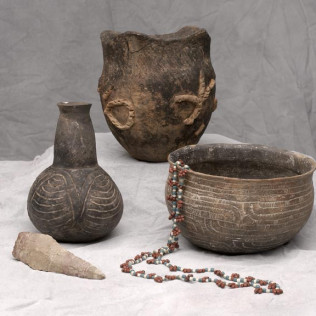 Pottery from a time long ago on display at Gregg County Historical Museum